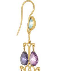 Munnu | Green 22-Karat Gold Tourmaline Earrings | Lyst