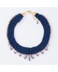 Paul Smith | Blue Women's Navy Beaded And Aqua 'cleopatra' Necklace | Lyst