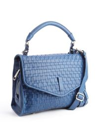 Gryson - Blue Green Leather Woven 'Ruby' Bag - Lyst