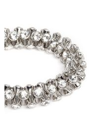 Kenneth Jay Lane - Metallic Crystal Elastic Bracelet - Lyst
