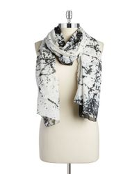 William Rast | Black Splatter Scarf | Lyst
