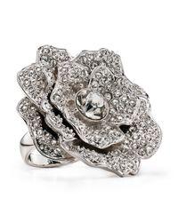 kate spade new york - Metallic Rose Garden Ring - Lyst