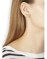 Marc By Marc Jacobs | Metallic Gold Tone Snake Stud Earrings | Lyst