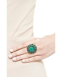 Nina Runsdorf - Green Blackened Gold Emerald Ring - Lyst