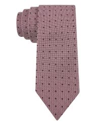 Calvin Klein | Pink Silk Micro Dot Tie for Men | Lyst