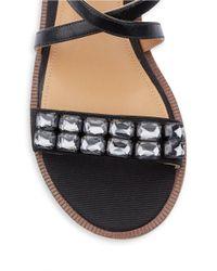 Enzo Angiolini | Black Jewelana Slide Sandals | Lyst