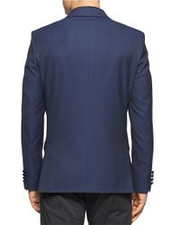Calvin Klein | Blue Solid Blazer for Men | Lyst