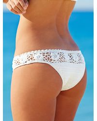 Free People - White Daisy Cheeky Bottom Daisy Crop Bikini Top - Lyst