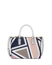 Tory Burch | Multicolor Robinson Fret-patchwork Small Multi Tote | Lyst
