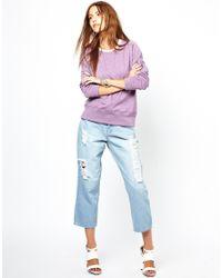 Cheap Monday | Purple Logo Sweater | Lyst