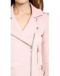 IRO - Pink Ashville Leather Jacket - Lyst