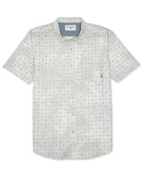 Billabong | Metallic Revival Diamond Print Short-sleeve Button-down Shirt for Men | Lyst