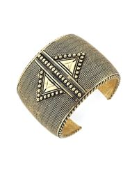 BCBGeneration - Metallic Mega Cuffs Multi-Textured Bracelet - Lyst