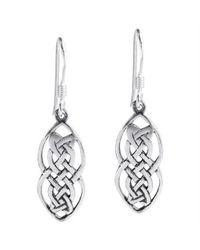 Aeravida | Metallic Nice Celtic Drop .925 Silver Dangle Earrings | Lyst