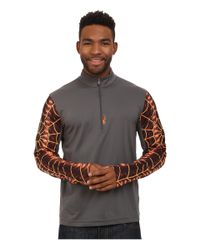 Spyder | Orange Webstrong Dry W.e.b.™ T-neck Top for Men | Lyst