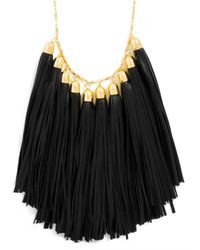 BaubleBar | Metallic Long Leather Tassel Bib | Lyst