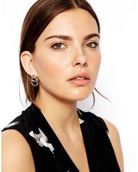 ASOS - Metallic Rings Stud Earrings - Lyst