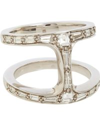 Hoorsenbuhs | White Baguette Diamond Dame Phantom Ring | Lyst