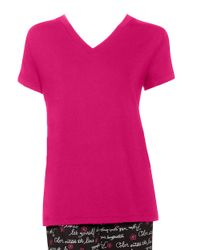 Hue - Pink V-neck Sleep Tee - Lyst