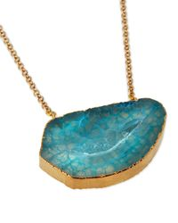 Panacea - Blue Agate Pendant Necklace - Lyst