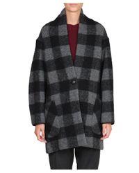 Étoile Isabel Marant - Gray Gabrie Wool Coat - Lyst