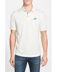 Tommy Bahama - White 'firewall - Miami Dolphins' Short Sleeve Nfl Polo for Men - Lyst