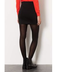 TOPSHOP - Black Double Zip Mini Skirt - Lyst