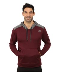 Adidas | Gray Ultimate Fleece Pullover Hoodie for Men | Lyst