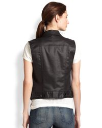 3x1 - Black Coated Denim Vest - Lyst