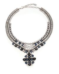 DANNIJO | Metallic Mikhail Crystal Medallion Bib Necklace | Lyst