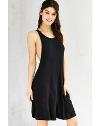 Silence + Noise | Black Poe Dropped Armhole Dress | Lyst
