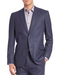 Theory | Blue Slim-fit Malcolm Wool Jacket for Men | Lyst