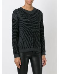 DIESEL | Black 'm-crepes-a' Sweater | Lyst