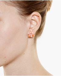 Yvonne Léon - Pink 18K Gold Coral Trilogy Earring - Lyst