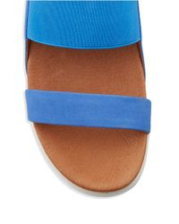 Gentle Souls | Blue Lansbury Nubuck And Elastic Sandals | Lyst