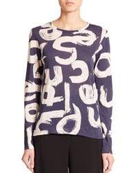 Proenza Schouler | Blue Scibble Letter Print T-Shirt | Lyst