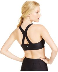 Roxy | Gray Spirit Medium Impact Racerback Sports Bra | Lyst