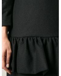 Dries Van Noten - Black Dropped Waist Ruffled Dress - Lyst