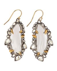 Alexis Bittar | White Jardin Mystere Jaggededge Crystalframed Lucite Earrings | Lyst
