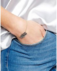 ASOS | Metallic Horse Shoe Bracelet | Lyst