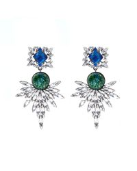 DANNIJO | Green Brianna Earrings | Lyst