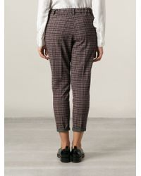 Milano Parigi - Pink Cropped Trousers - Lyst