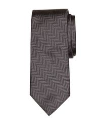 Brooks Brothers - Gray Heathered Herringbone Tie for Men - Lyst
