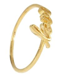 Alex Monroe - Metallic Gold-Plated Love Ring - Lyst