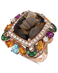 Le Vian | Pink Multistone Large Square Ring (12-1/6 Ct. T.w.) In 14k Rose Gold | Lyst