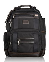 Tumi | Brown Alpha Bravo Hickory Kingsville Deluxe Brief Pack for Men | Lyst
