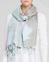 Eileen Fisher | Blue Printed Scarf | Lyst
