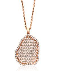Kimberly Mcdonald - Metallic 18k Rose-gold Pavé Diamond Pendant Necklace - Lyst