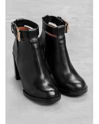 & Other Stories | Black Leather Ankle Boots | Lyst