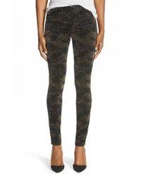 J Brand | Green '815' Mid Rise Velveteen Super Skinny Jeans | Lyst